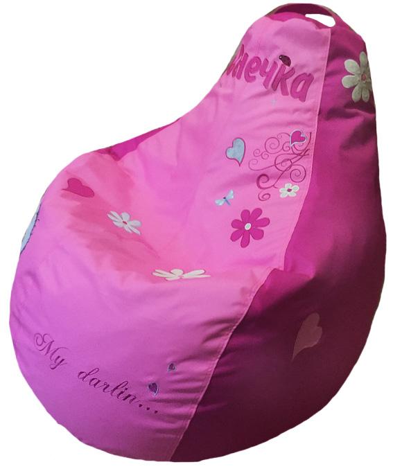 кресло мешок пуф груша с вышивкой