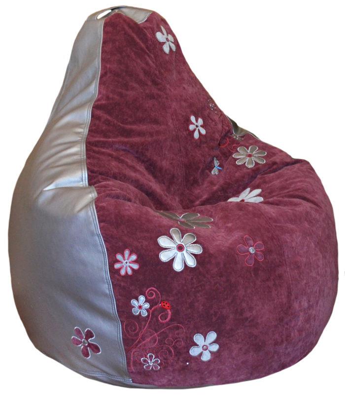 бескаркасный пуф кресло