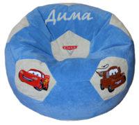 кресло-мяч с именем тачки