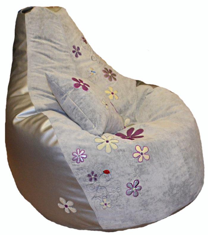 кресло пуф груша подушка