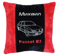 именная подушка с логотипом