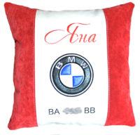 подушка с логотипом бмв
