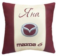 подушка с логотипом мазда