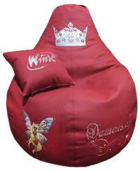 бескаркасное кресло груша подушка