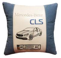 подушка с силуетом авто