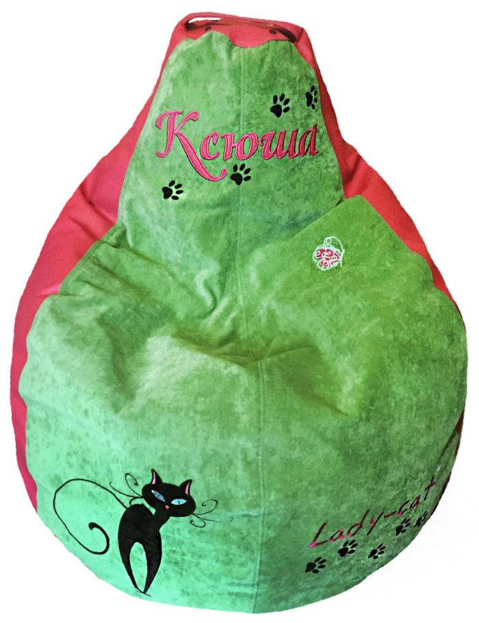 кресло мешок пуф для девочки кошка