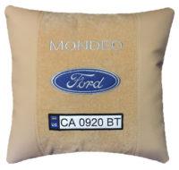 подушка с логотипом форд