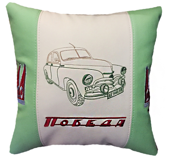 подушка с машиной