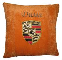 порше подушка с логотипом