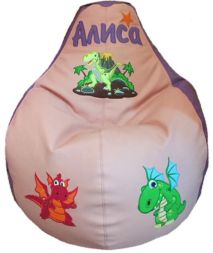 бескаркасное кресло динозавры