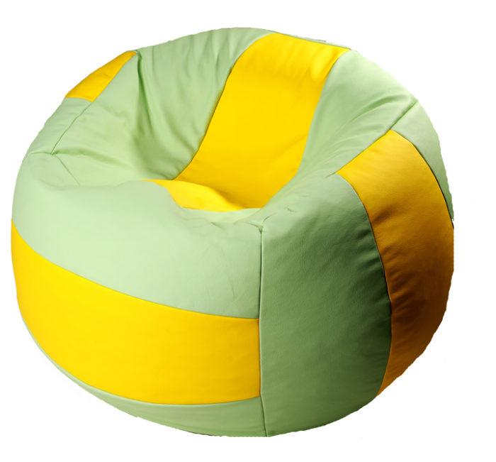 бескаркасный мяч пуф