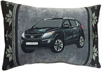 подушка с контуром машины
