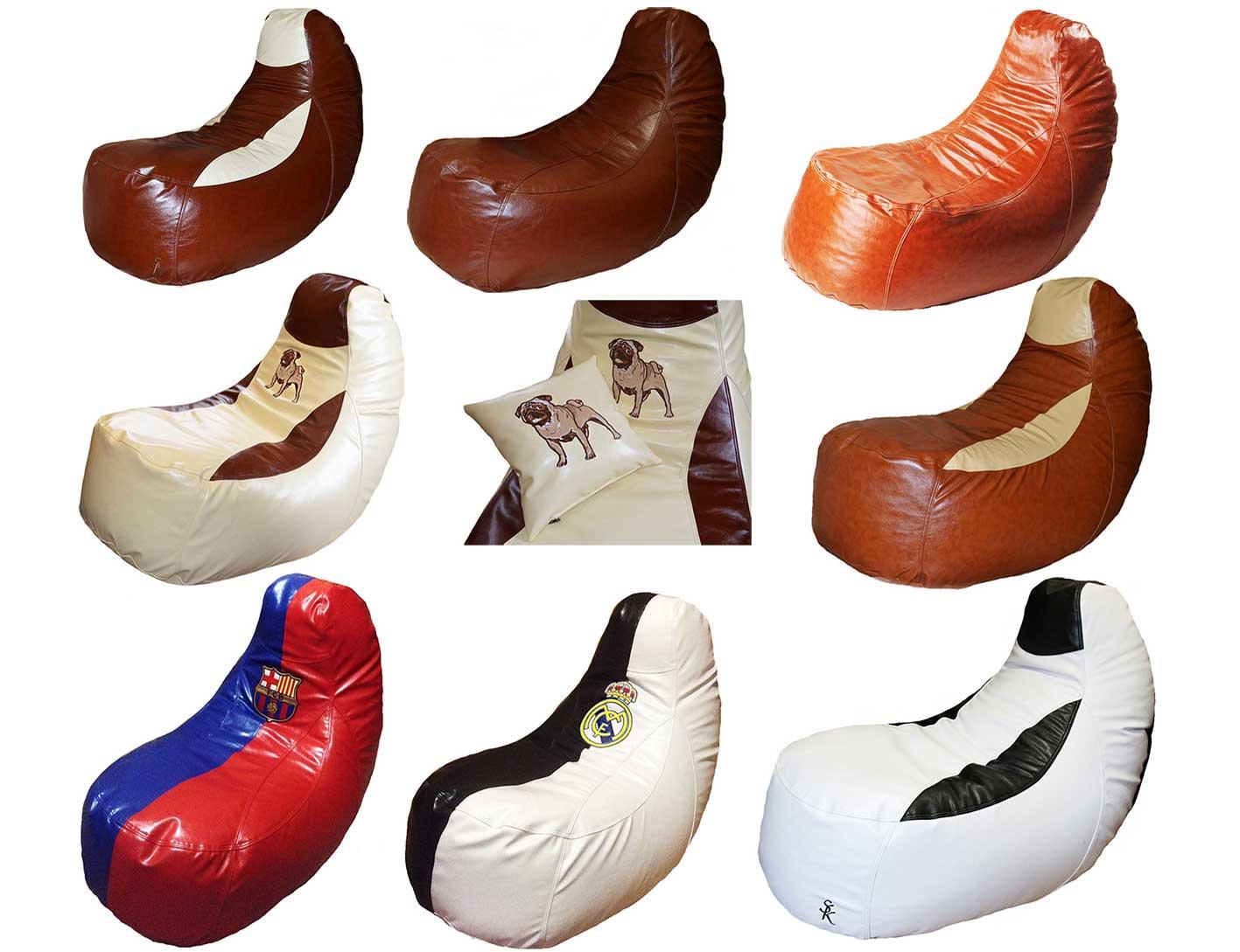 комфортное кресло пуф бескаркасная мебель