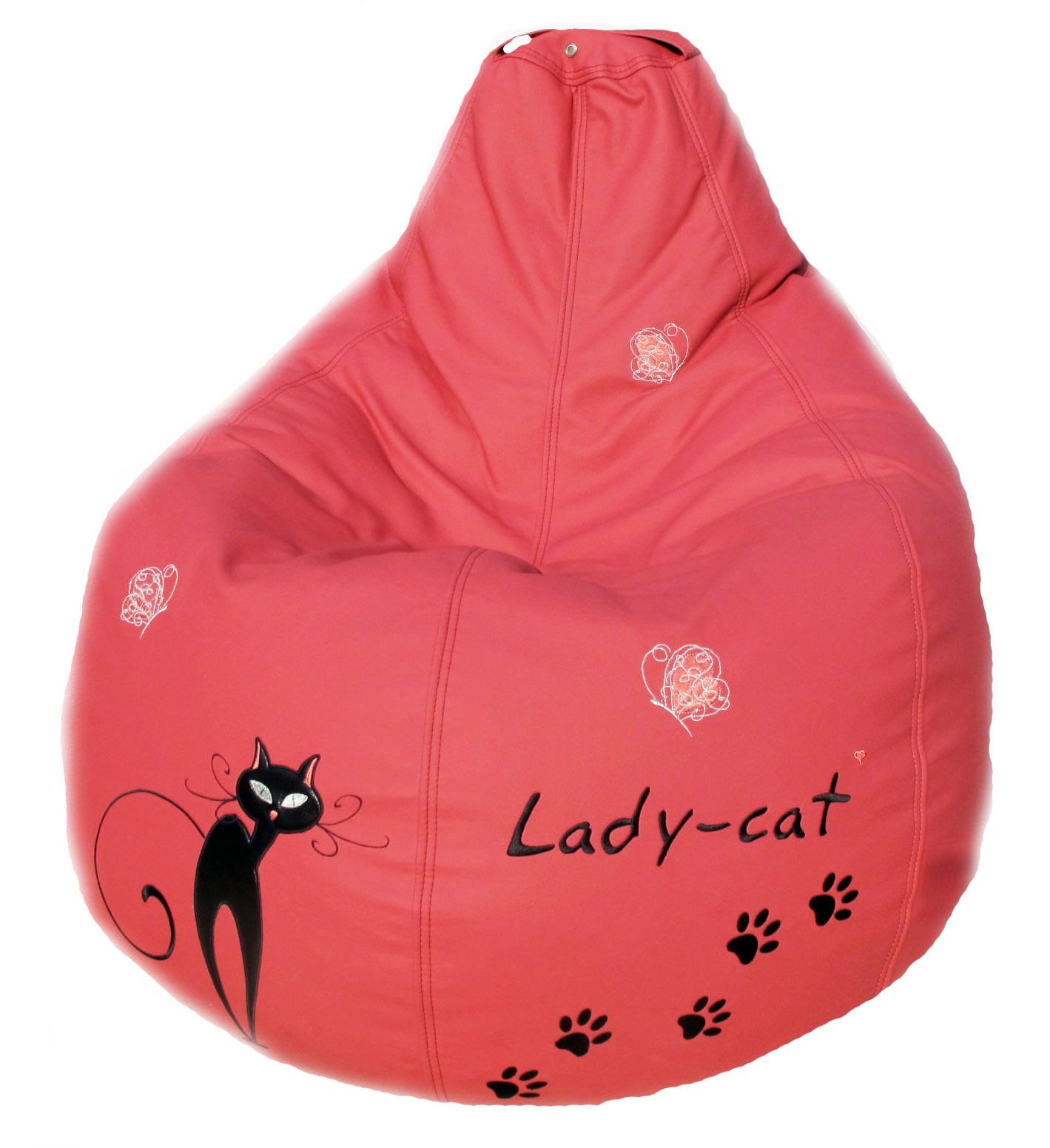 кресло-груша мешок пуфик для девочки кошка