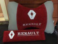 подушка-подголовник рено, накладки на ремень безопасности