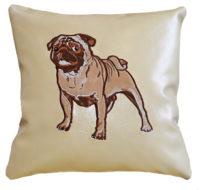 подушка с собакой мопс