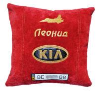 подарок в машину киа, подушечка с логотипом