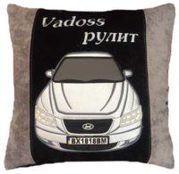 именной подарок, подушка с машиной