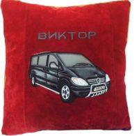 автоподарок, подушка сувенирная с логотипом
