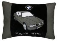 именной подарок, подушка с силуэтом авто