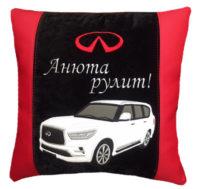 сувениры в машину, подушка с логотипом