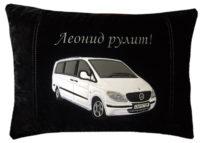подушка автомобильная с логотипом, вышивка Вашего авто