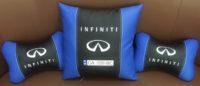 подушка подголовник с логотипом