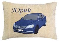 подушка с силуэтом машины
