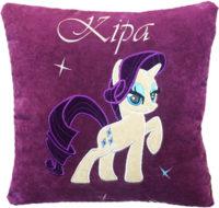 именная подушка пони