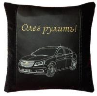 подушка автомобильная с логотипом