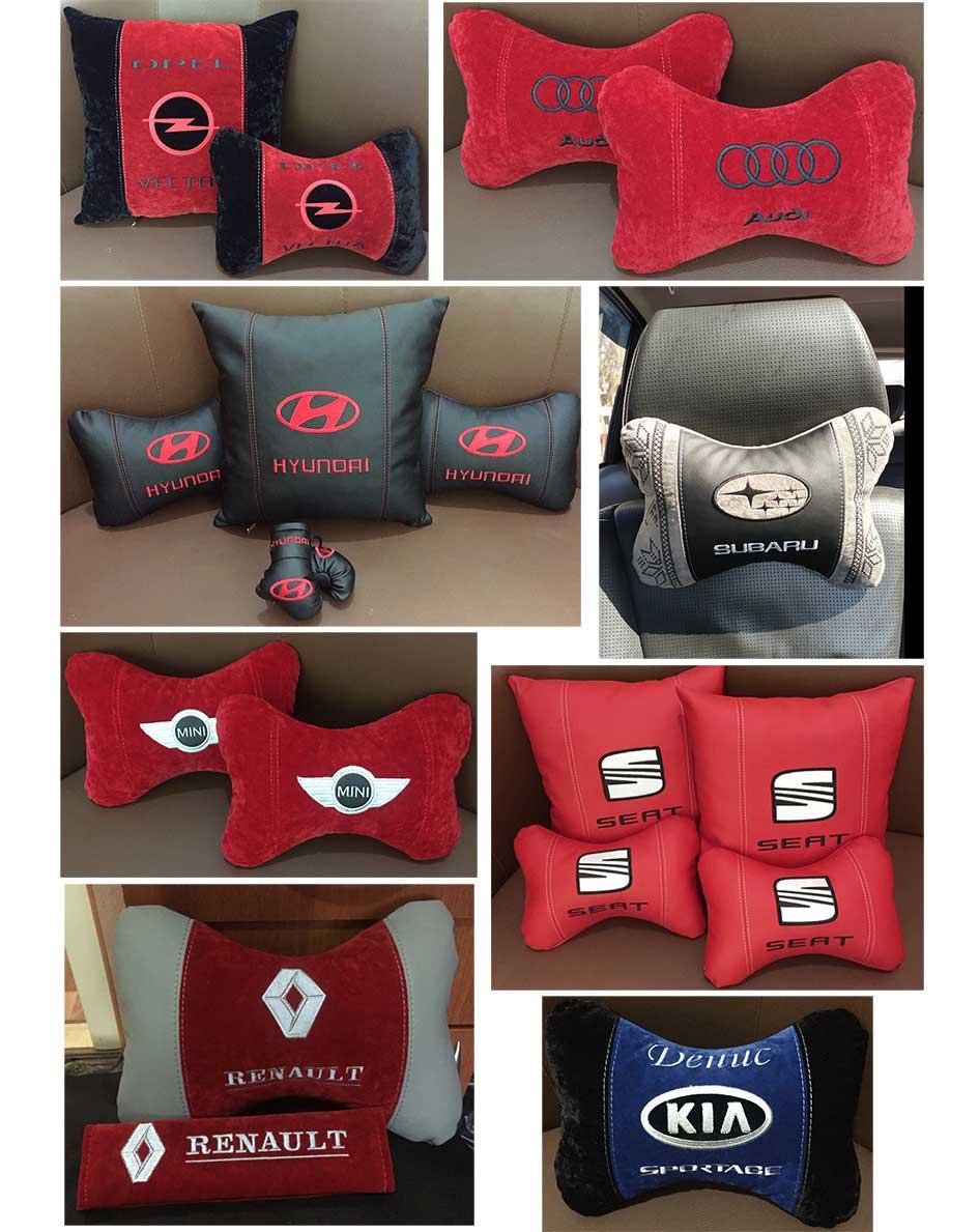 подушки автомобильные подголовники с логотипом