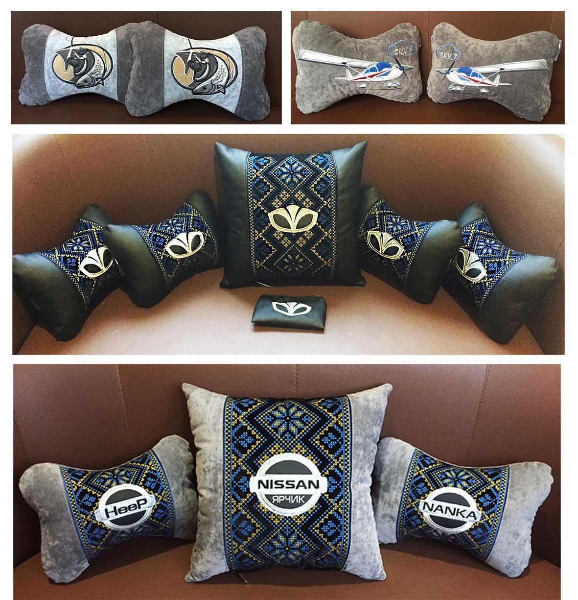 подушка сувенирная в машину с логотипом