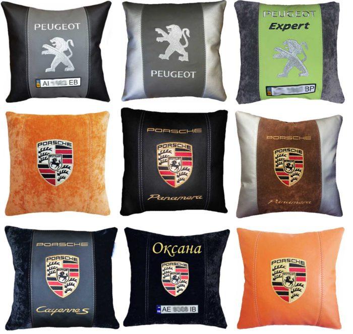 подушка порше пежо логотип
