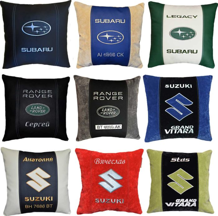 подушка с логотипом сузуки, автоаксессуары