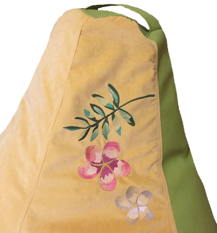кресло мешок с вышивкой